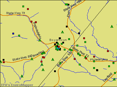 Boyertown, Pennsylvania environmental map by EPA