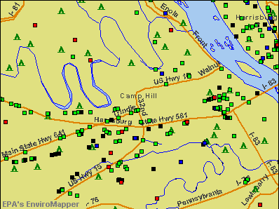 Camp Hill, Pennsylvania environmental map by EPA