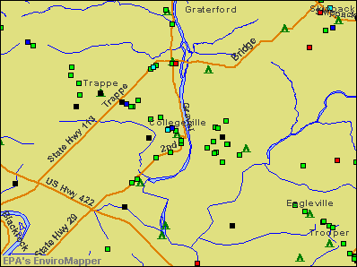 Collegeville, Pennsylvania environmental map by EPA
