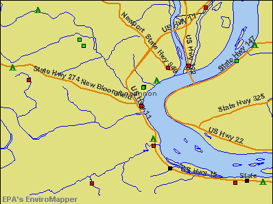Duncannon, Pennsylvania environmental map by EPA
