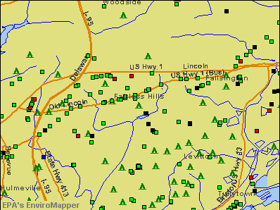 Fairless Hills, Pennsylvania environmental map by EPA