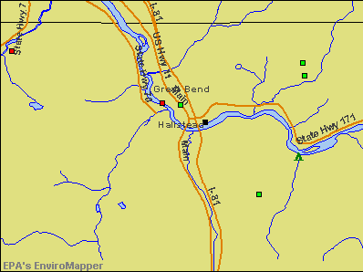 Hallstead, Pennsylvania environmental map by EPA