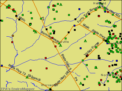 Kulpsville, Pennsylvania environmental map by EPA