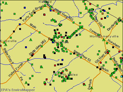Lansdale, Pennsylvania environmental map by EPA
