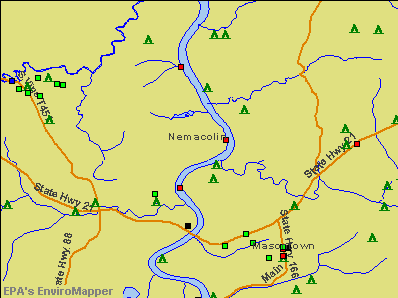 Nemacolin, Pennsylvania environmental map by EPA