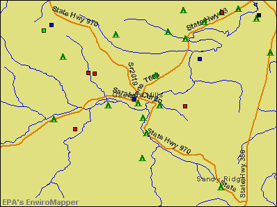 Osceola Mills, Pennsylvania environmental map by EPA