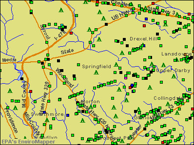 Springfield, Pennsylvania environmental map by EPA