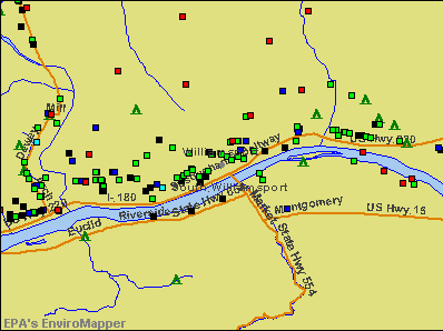 Williamsport, Pennsylvania environmental map by EPA