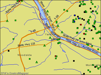 Yardley, Pennsylvania environmental map by EPA