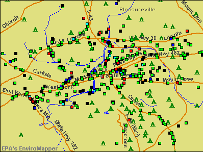 York, Pennsylvania environmental map by EPA