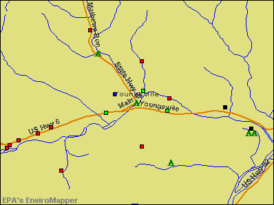 Youngsville, Pennsylvania environmental map by EPA