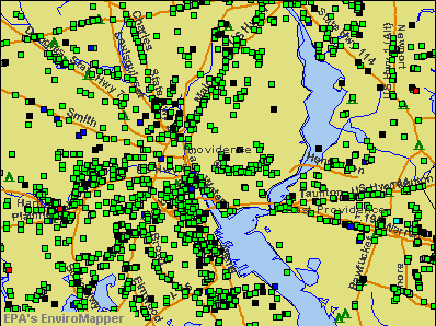 Providence, Rhode Island environmental map by EPA