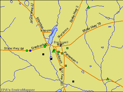 Barnwell, South Carolina environmental map by EPA