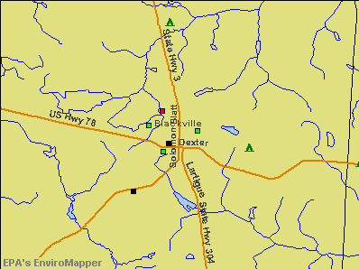 Blackville, South Carolina environmental map by EPA