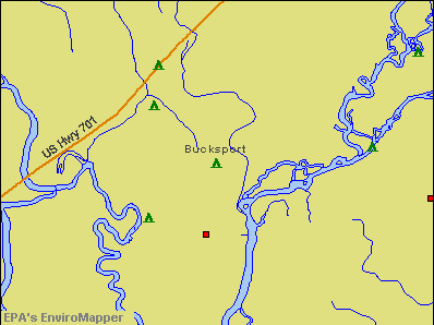 Bucksport, South Carolina environmental map by EPA