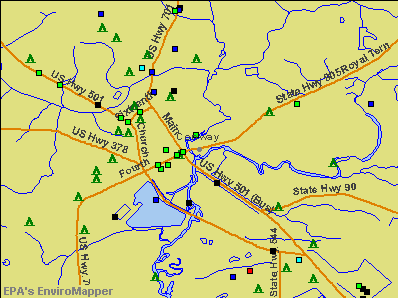 Conway, South Carolina environmental map by EPA