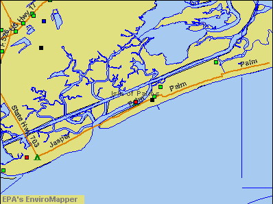 Isle of Palms, South Carolina environmental map by EPA