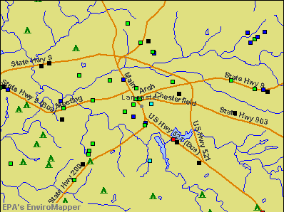 Lancaster, South Carolina environmental map by EPA