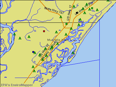 Murrells Inlet, South Carolina environmental map by EPA