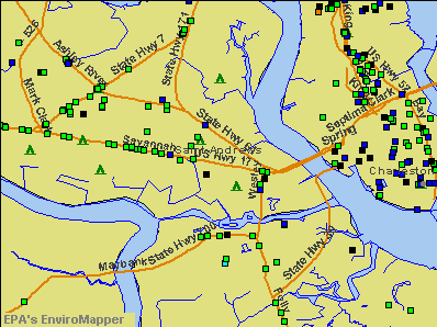 St. Andrews, South Carolina environmental map by EPA