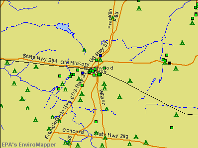 Brentwood, Tennessee environmental map by EPA