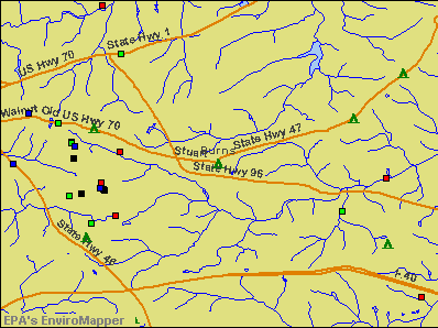 Burns, Tennessee environmental map by EPA