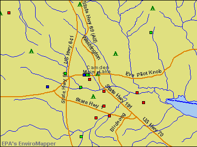 Camden, Tennessee environmental map by EPA