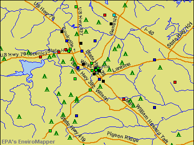 Crossville, Tennessee environmental map by EPA