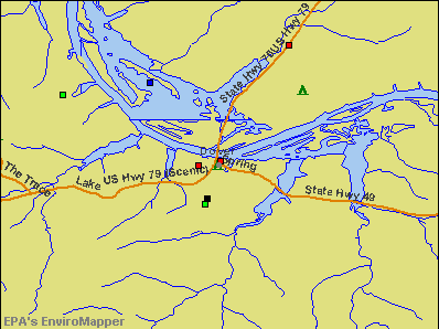 Dover, Tennessee environmental map by EPA