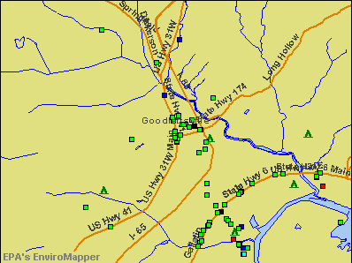 Goodlettsville, Tennessee environmental map by EPA