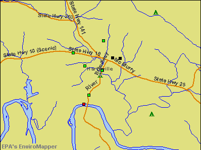 Hartsville, Tennessee environmental map by EPA