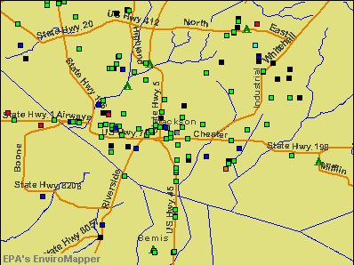 Jackson, Tennessee environmental map by EPA