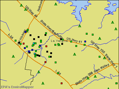 La Vergne, Tennessee environmental map by EPA