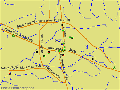Martin, Tennessee environmental map by EPA