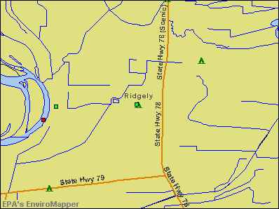 Ridgely, Tennessee environmental map by EPA