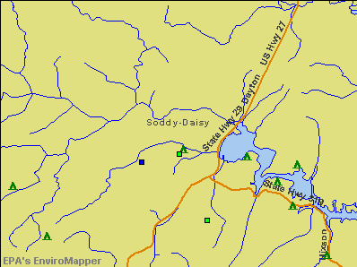 Soddy-Daisy, Tennessee environmental map by EPA