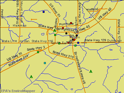 South Fulton, Tennessee environmental map by EPA