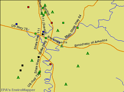Sparta, Tennessee environmental map by EPA