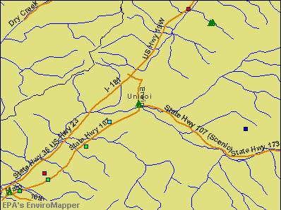 Unicoi, Tennessee environmental map by EPA