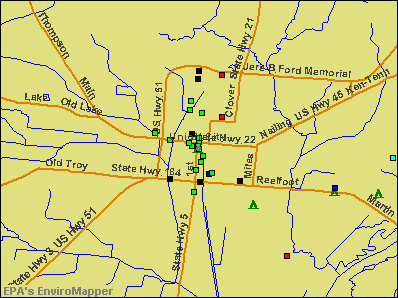 Union City, Tennessee environmental map by EPA
