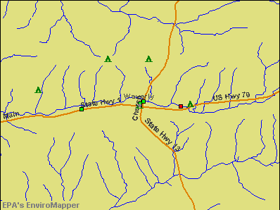Waverly, Tennessee environmental map by EPA