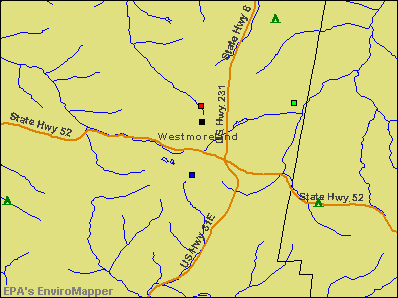 Westmoreland, Tennessee environmental map by EPA