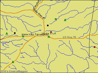 White Bluff, Tennessee environmental map by EPA
