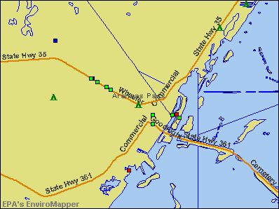 Aransas Pass, Texas environmental map by EPA