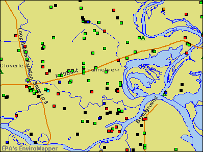Channelview, Texas environmental map by EPA