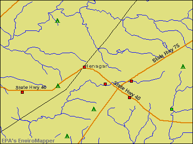 Henagar, Alabama environmental map by EPA