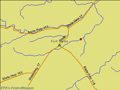 Fort Davis, Texas environmental map by EPA