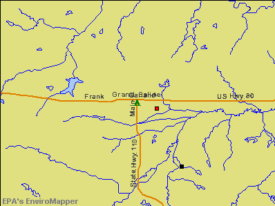 Grand Saline, Texas environmental map by EPA