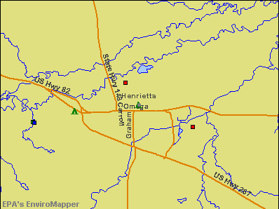 Henrietta, Texas environmental map by EPA