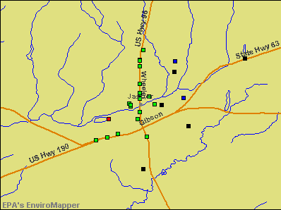 Jasper, Texas environmental map by EPA